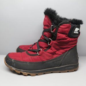 Sorel Boots Red Black Size 7.5 Women